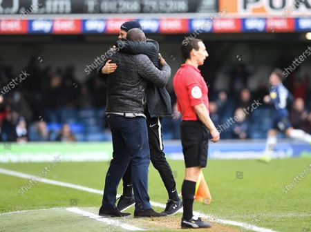 Sol Campbell, Manager of Southend United celebrating a goal
