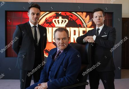 Men In Brown: Anthony McPartlin and Declan Donnelly  with Hugh Bonneville.