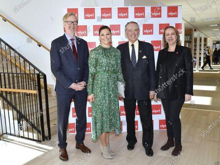Dan Smith Director of SIPRI, Crown Princess Victoria, Jan Eliasson, chairman and Sigrun Rawet, Deputy Director of SIPRI