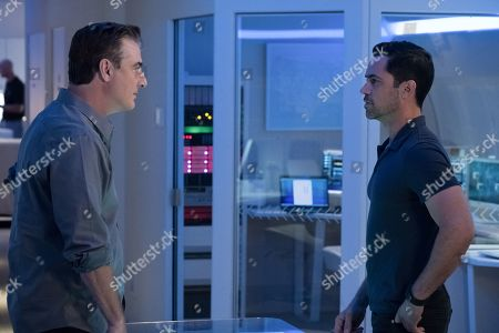 Chris Noth as Frank Booth and Danny Pino as Bishop