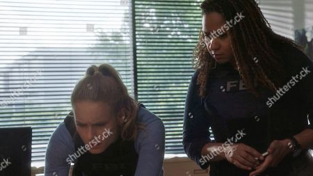 Leven Rambin as Kick Lannigan and Tracie Thoms as FBI Agent Maya Kennedy