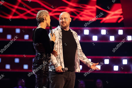 Team Tom: Lois Moodie and Sean Connolly perform. Tom chooses Lois Moodie to go through, watched by Emma Willis.