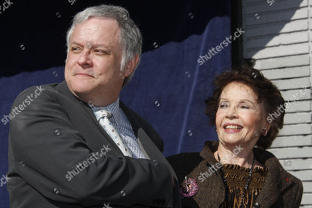Neal Baer and Leslie Caron