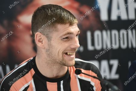 Stock Picture of Chris Jenkins during a Press Conference at Fredericks Restaurant on 6th March 2020