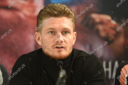 Archie Sharp during a Press Conference at Fredericks Restaurant on 6th March 2020