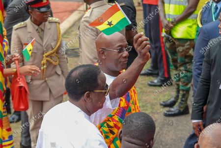 Stock Photo of President H.E Hon Dr. Keith Christopher Rowley MP. Prime Minister of Trinidad and Tobago attend Ghana Independence Day celebrations in Kumasi, Ghana, 06 March 2020. Ghana is celebrating its 63rd Independence anniversary from British rule which ended in 1957.