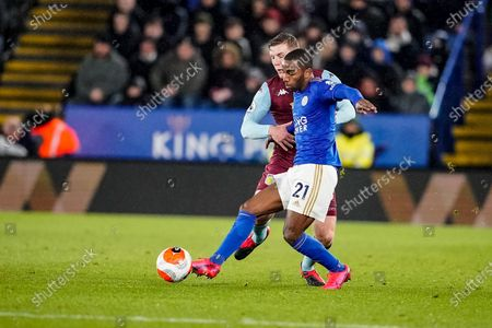 9th March 2020; King Power Stadium, Leicester, Midlands, England; English Premier League Football, Leicester City versus Aston Villa; Ricardo Pereira of Leicester City lays the ball back to his keeper