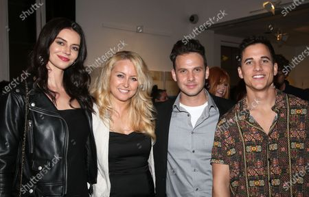 Stock Picture of Janine Gateland, Mike C Manning and guests