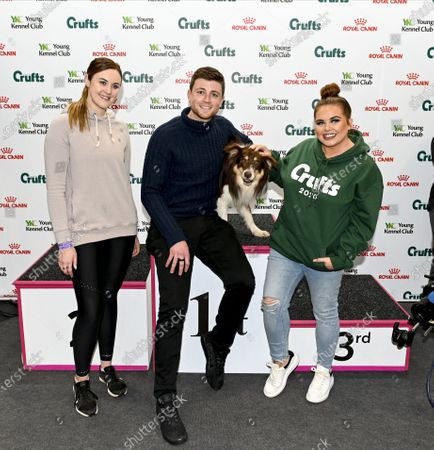 Stock Picture of Ashleigh Butler and Anthony Clarke at Crufts with Scarlett Moffatt.