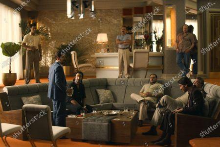 Stock Image of Diego Luna as Miguel Angel Felix Gallardo, Jose Maria Yazpik as Amado Carrillo Fuentes, Juan Sebastián Calero as Navegante and Alberto Ammann as Pacho Herrera