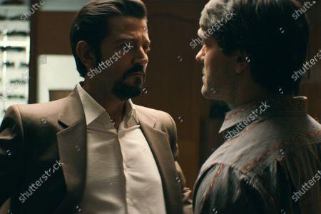 Diego Luna as Miguel Angel Felix Gallardo and Alejandro Edda as Joaquín 'El Chapo' Guzman