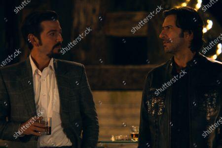Diego Luna as Miguel Angel Felix Gallardo and Jose Maria Yazpik as Amado Carrillo Fuentes