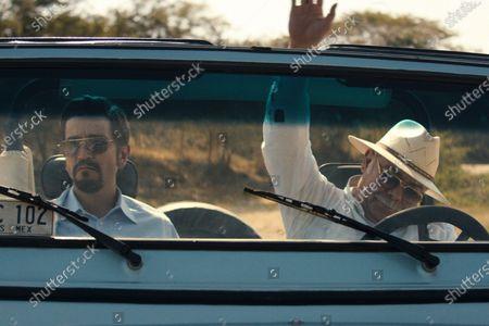 Stock Picture of Diego Luna as Miguel Angel Felix Gallardo and Jesus Ochoa as Juan Nepomuceno Guerra
