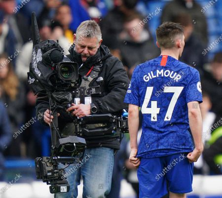 Billy Gilmour of Chelsea and TV Camera Picture Dave Shopland /Shutterstock