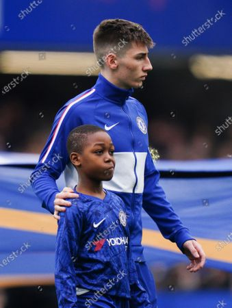 Billy Gilmour of Chelsea with young mascot Picture Dave Shopland /Shutterstock