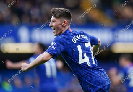 18 year Old Billy Gilmour of Chelsea celebrates 4th goal that he helped to set up  Picture Dave Shopland /Shutterstock