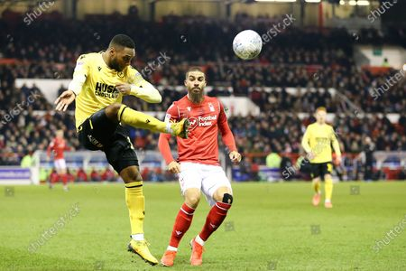 Millwall defender James Brown (17) clears the ball during the EFL Sky Bet Championship match between Nottingham Forest and Millwall at the City Ground, Nottingham