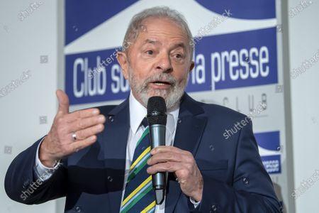Editorial picture of Former Brazilian president Luis Inacio Lula da Silva in Geneva, Switzerland - 06 Mar 2020