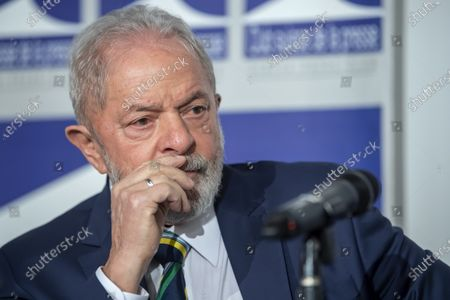 Former Brazilian president Luis Inacio Lula da Silva, speaks about 'Dialogue about inequality with global unions and general public', during a press conference at the Geneva press club, in Geneva, Switzerland, 06 March 2020.