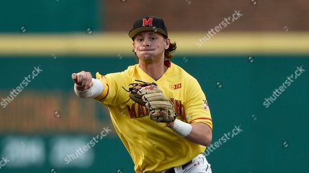 Stock Photo of Maryland's Matt Orlando during an NCAA baseball game, in College Park, Md
