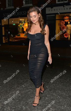Megan Barton Hanson seen at Raffles, Chelsea, for her Birthday night out.