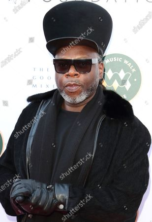 Jazzie B, founder and leading light of the Soul II Soul collective attends the Music Walk Of Fame Soul II Soul stone unveiling, the fourth stone to be placed on Camden High Street.
