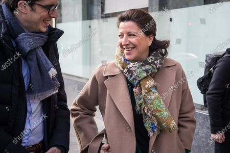 Former French Health Minister and mayoral candidate for Paris Agnes Buzyn (R) arrives to visit a veterinary clinic in Paris, France, 07 March 2020. Buzyn took the candidacy for the 'La Republique En Marche' (LREM) party, replacing former candidat Benjamin Griveaux who dropped his candidacy in the Paris municipal elections on 14 February over publication of sexual imagery allegedly related to him on social media.