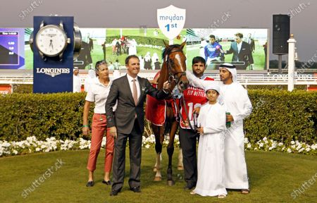 Stock Picture of BARNEY ROY with Charlie Appleby after The Jebel Hatta Meydan