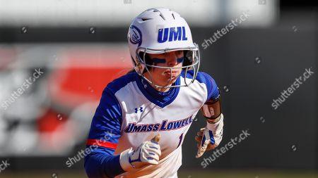 UMass Lowell's Christina Rizzi runs to third base during an NCAA softball game against Purdue Fort Wayne, in Clarksville, Tenn