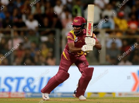 West Indies Legends' Brian Lara bats during the Road Safety World Series cricket match against India Legends in Mumbai, India