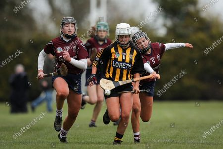 Presentation College Athenry vs Loreto. Loreto's Claire Doheny under pressure from Keisha Coleman and Grace Keen of Athenry