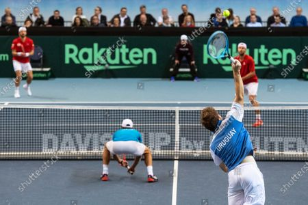 Editorial picture of Davis Cup - Austria vs Uruguay, Premstaetten - 07 Mar 2020