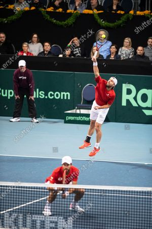 Editorial photo of Davis Cup - Austria vs Uruguay, Premstaetten - 07 Mar 2020