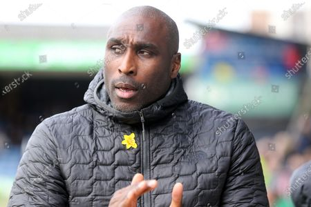 Southend United manager Sol Campbell before Southend United vs Bristol Rovers, Sky Bet EFL League 1 Football at Roots Hall on 7th March 2020