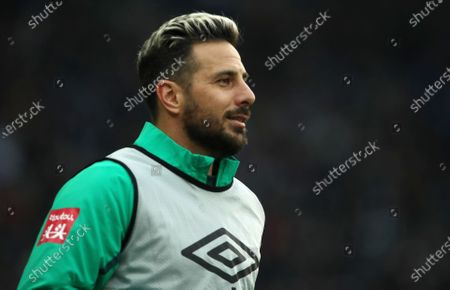 Stock Image of Claudio Pizarro       / Sport / Football / DFL Bundesliga  /  2019/2020 / 07.03.2020 / Hertha BSC Berlin vs. SV Werder Bremen / DFL regulations prohibit any use of photographs as image sequences and/or quasi-video. /