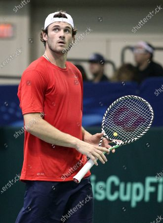 Tommy Paul (USA) during a Davis Cup by Rakuten Qualifier dead rubber match between Denis Istomin (UZB) and Tommy Paul (USA) at the Neal Blaisdell Center in Honolulu, HI - Michael Sullivan/CSM
