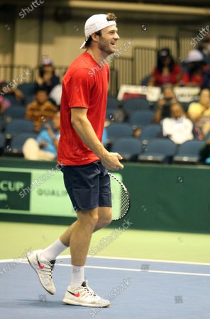 Stock Picture of Tommy Paul (USA) during a Davis Cup by Rakuten Qualifier dead rubber match between Denis Istomin (UZB) and Tommy Paul (USA) at the Neal Blaisdell Center in Honolulu, HI - Michael Sullivan/CSM