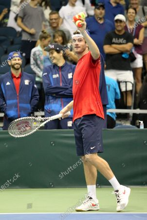 Editorial photo of Tennis Davis Cup Qualifier USA vs Uzbekistan MAR07, Honolulu, USA - 07 Mar 2020
