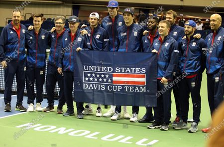 Editorial picture of Tennis Davis Cup Qualifier USA vs Uzbekistan MAR07, Honolulu, USA - 07 Mar 2020