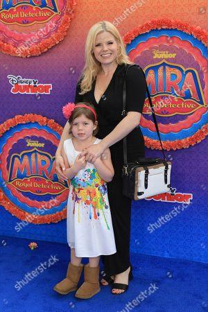 "Megan Hilty, Viola Gallagher. Megan Hilty and Viola Gallagher attends the LA Premiere of ""Mira, Royal Detective"" at Disney Studios, in Burbank, Calif"