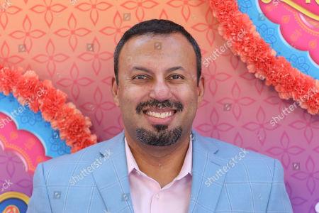 "Stock Image of Rizwan Manji attends the LA Premiere of ""Mira, Royal Detective"" at Disney Studios, in Burbank, Calif"
