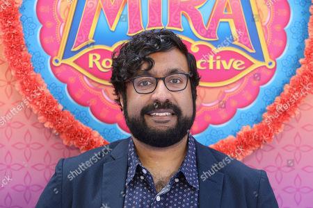 """Stock Image of Hari Kondabolu attend the LA Premiere of """"Mira, Royal Detective"""" at Disney Studios, in Burbank, Calif"""