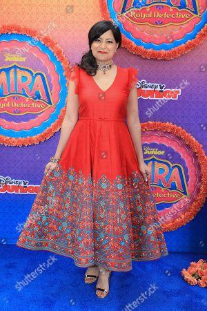 "Stock Photo of Sonal Shah attends the LA Premiere of ""Mira, Royal Detective"" at Disney Studios, in Burbank, Calif"