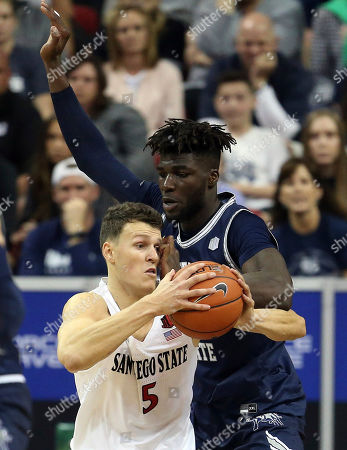 Editorial image of MWC Utah St San Diego St Basketball, Las Vegas, USA - 07 Mar 2020