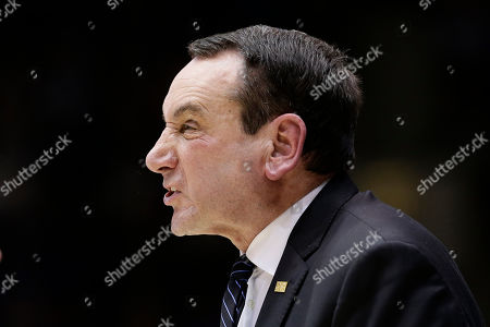 Duke head coach Mike Krzyzewski reacts during the second half of an NCAA college basketball game against North Carolina in Durham, N.C
