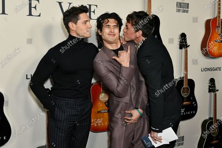 Stock Image of Casey Cott, Charles Melton and guest