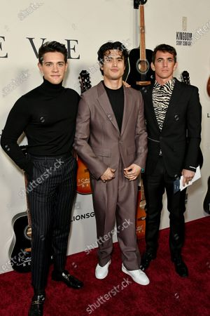 Casey Cott, Charles Melton and guest