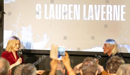Stock Image of Lauren Laverne and Paul Weller
