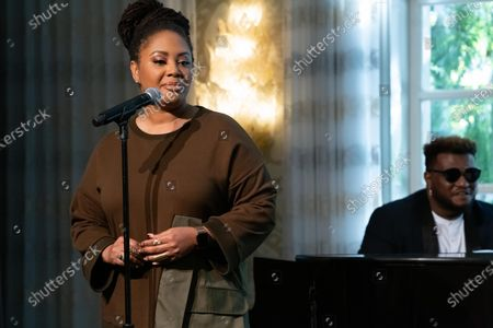 Stock Photo of Lalah Hathaway performs at 'A World Of Good' presented by In A Perfect World at the Four Season in Beverly Hills