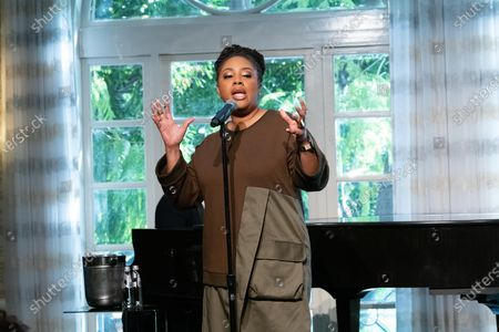 Stock Picture of Lalah Hathaway performs at 'A World Of Good' presented by In A Perfect World at the Four Season in Beverly Hills